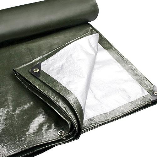 Zhang Li Li Baches Bache - Polyéthylène épaississant Imperméable Soleil Résistant Parce Auvent Extérieur Camion 180g   m2, 22 Tailles, Armyvert (Taille   5X7m)