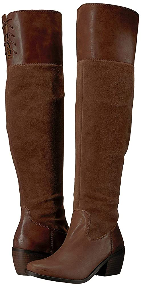名声コンサートはねかける[Lucky Brand] Womens Komah Leather Almond Toe Over Knee Fashion, Tobacco, Size 9.0 [並行輸入品]