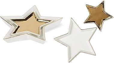 C.R. Gibson Nested Star Ceramic Trinket Dish