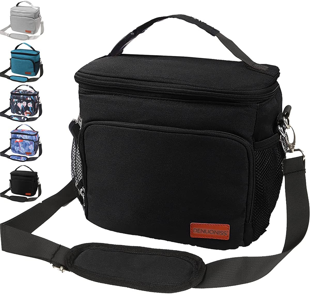 Insulated Lunch Bag Thermal Lunch Box Bento Cooler Tote Reusable Lunch Bags for Women Men Kids,12-Can Medium New Upgrade Leakproof Hielera with Hands-free Buckle Handle Shoulder Strap