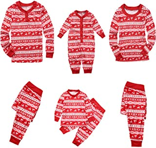 Family Christmas Pajamas Newborn Baby Kids Mom Dad Pajamas Set Family Sleepwear Nightwear Matching Clothes
