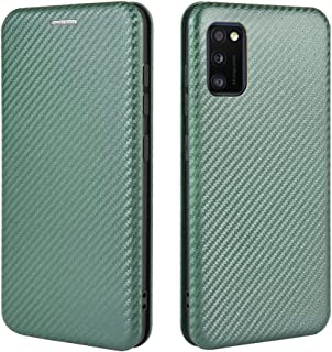 Phone Flip covers لحالة Samsung Galaxy A41، ألياف الكربون الفاخرة PU و TPU Hybrid Case حماية كاملة صدمات الوجه حالة الغطاء...