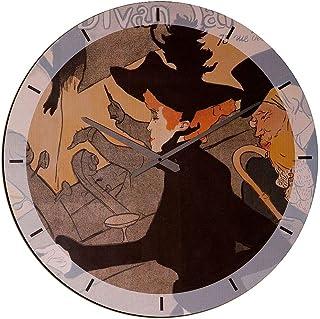 Artopweb Wall Clock, MDF Panel Multicolour, Size: 60 x 60 Cm