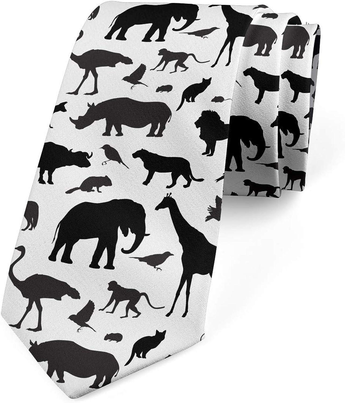 Lunarable Necktie, Wildlife Habitat, Dress Tie, 3.7