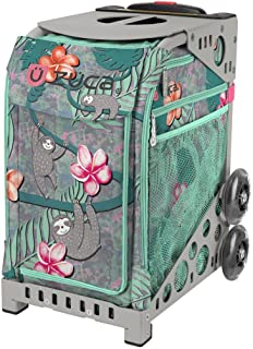 ZUCA Peek-a-Boo Friends Sloths and Flowers Sport Insert Bag and Frame with Built-in Seat (Choose Your Frame Color)