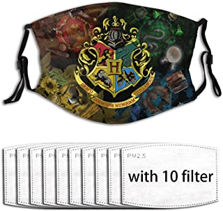 Har-Ry Pot-Ter Can Be Reused Face Cover 5 Layers Filters Protection, Multiple Filters, With 10 Filter