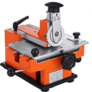 Happybuy Semi Automatic Sheet Embosser 2 to 4 Characters per Second Metal Embosser Working Plate 7.8inch x 5.3inch Embossing Label Maker Machine with 4mm Aluminum