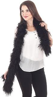 Genuine Mongolian Lamb Fur Ultra Soft Scarf - 10 Colors