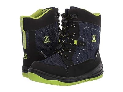 Kamik Kids Timmy (Little Kid) (Black/Lime) Boys Shoes