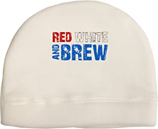 TooLoud Red White and Brew Color Adult Fleece Beanie Cap Hat