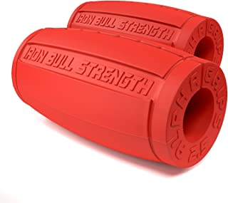 Iron Bull Strength Alpha Grips 2.5 - Extreme Arm Blaster - Best Dumbbell and Barbell Thick Bar Adapter