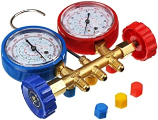 QWXZ Air Conditioning Valve Test Fitting with Plug Refrigeration Devices Pressure Gauge Cold Filling System High Precision...