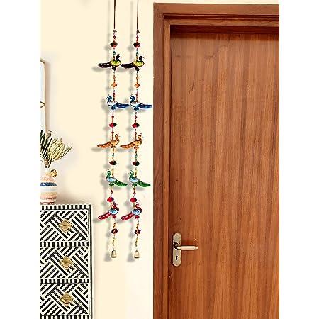 DreamKraft Decorative Peacock Door Hangings Home Decor (96 cm) -Set of 2