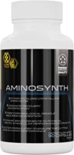 AminoSynth Dietary Supplement Energy Pills, 21 Essential Amino Acids, BCAA Stamina Booster Amino Complex for Prolific Keto...