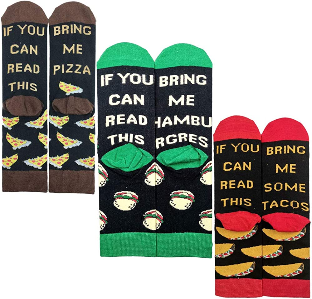 3 Pairs If You Can Read This Reservation PIZZA Beer Coffee Foo Donut Ranking TOP19 Socks -