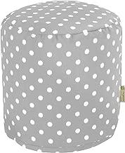 Majestic Home Goods Gray Ikat Dot Indoor/Outdoor Bean Bag Ottoman Pouf 16