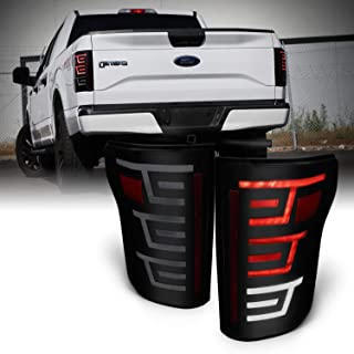 For 2015 2016 2017 Ford F150 Pickup Truck Full LED Design Black Housing Smoked Lens Tail Brake Lights Lamps