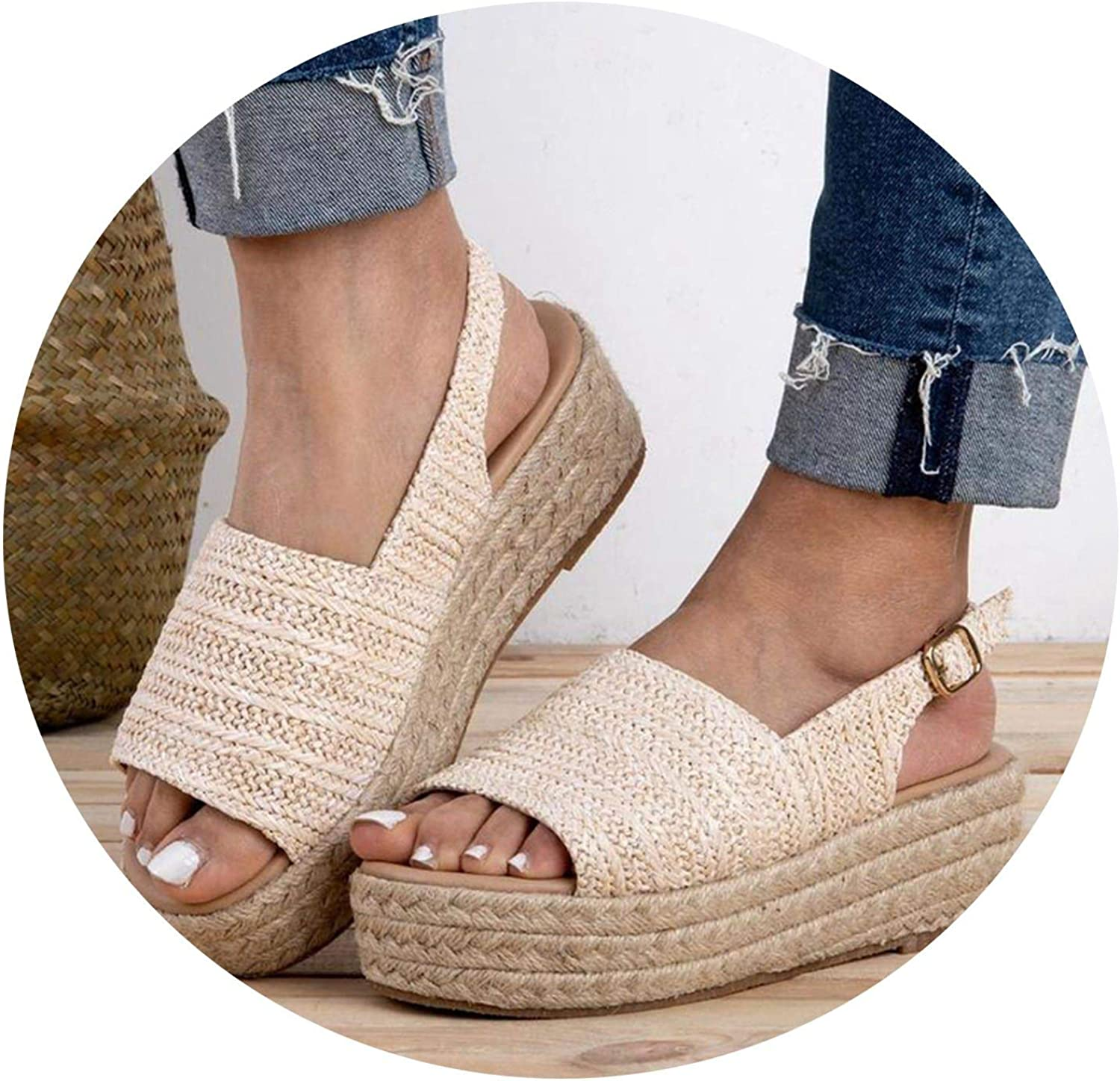 Monica's house Fashion Summer Women Sandals Female Beach shoes Wedge shoes High Heel Comfortable Platform Sandals Plus Size