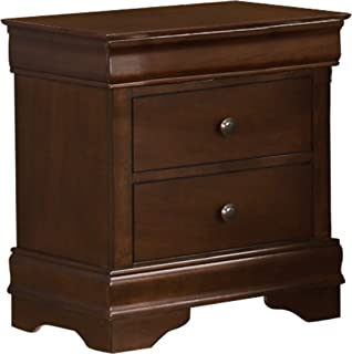 Homelegance Abbeville Two-Drawer Nightstand, Cherry