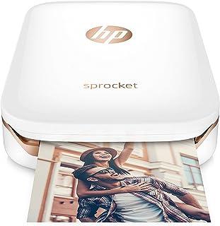 HP Sprocket - Impresora fotográfica portátil (Impresión sin tinta, Bluetooth, 5 x 7.6 cm impresiones) Color Blanco