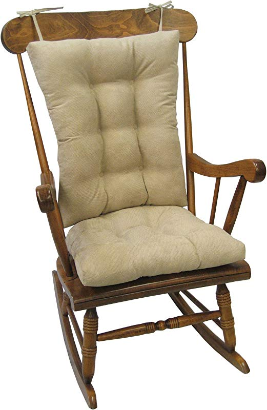 Klear Vu Non Slip Cushion Gripper Rocking Chair Twillo Jumbo In Stone