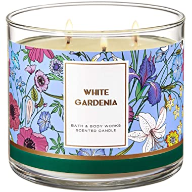 Bath and Body Works 3 Wick Scented Candle White Gardenia 14.5 Ounce (packaging may vary)