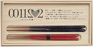 兵左衛門 若狭塗箸 おお、いい夫婦(金しぶき) 23.5cm/21.5cm X-890