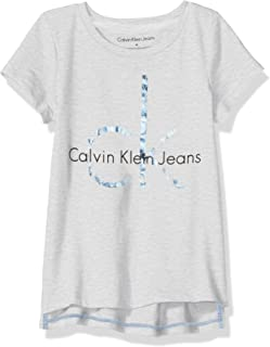 Calvin Klein Girls' CK Logo Tee