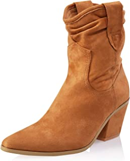 AIIT Women's Fashion Chunky Mid Heel Ankle Boot Shoe