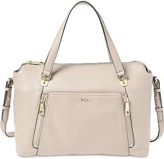 Lauren Ralph Lauren Womens Arley Leather Convertible Shoulder Handbag Tan Medium