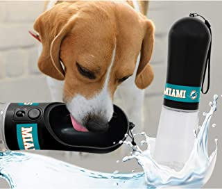 DOG Water Bottle. NFL MIAMI DOLPHINS PET WATER BOTTLE. BEST Cat Water Bottle. Water Fountain Dispenser for DOGS & CATS.