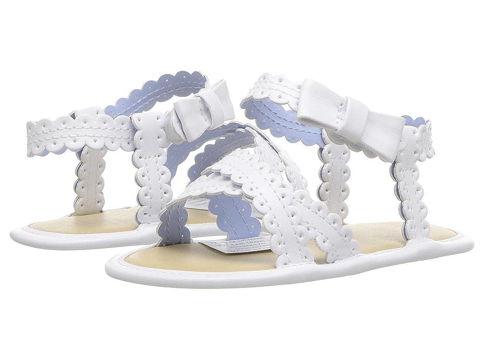Janie and Jack Eyelet Sandal (Infant) (White) Girls Shoes