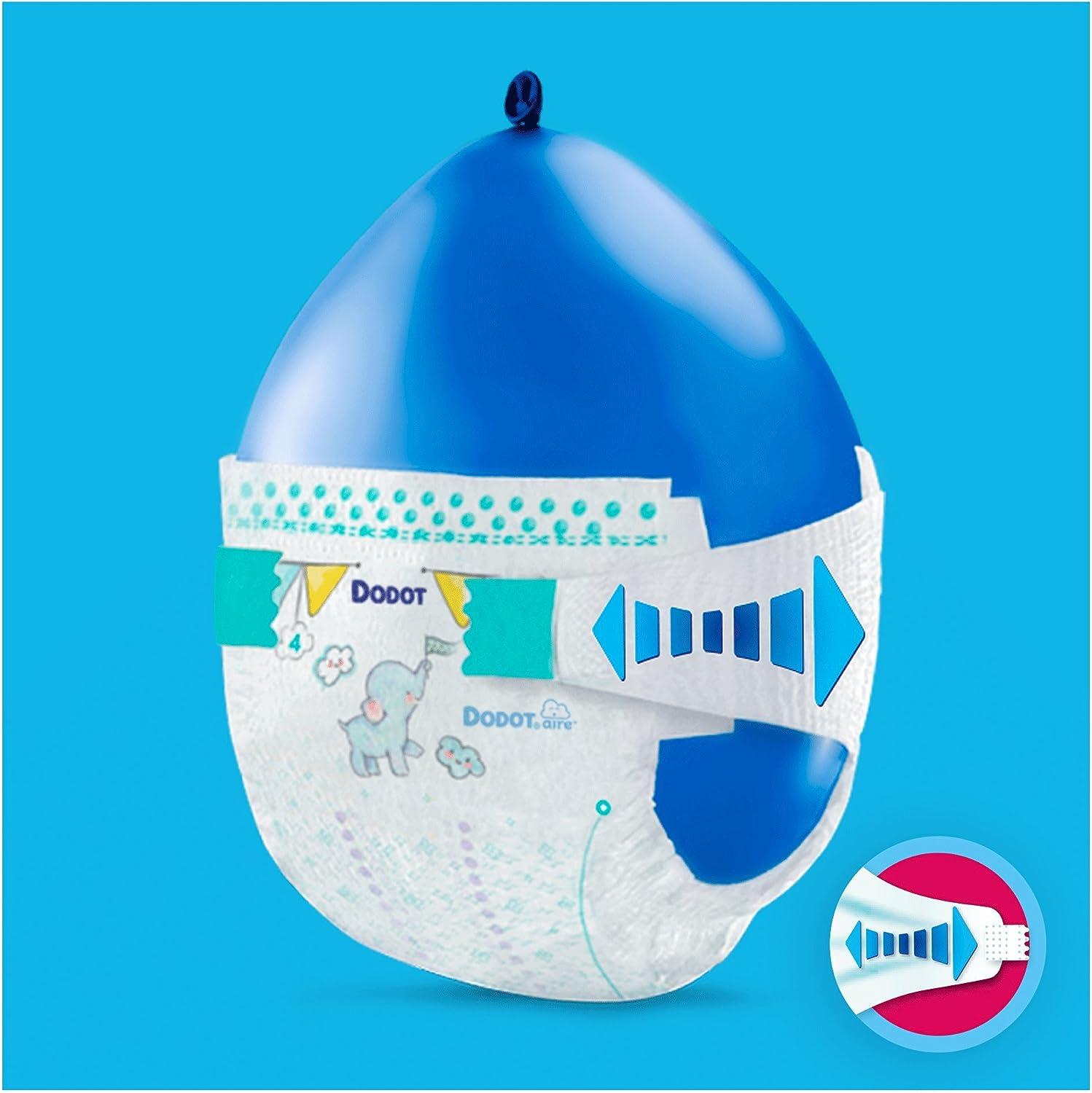 Dodot - Pañales con Canales de Aire Bebé-Seco, Talla 2, para Bebes de 4 a 8 kg - 40 Pañales