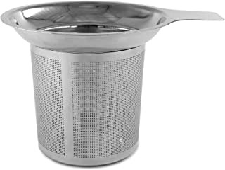Daycount® Stainless Steel Reusable Coffee Filter Tea Baskets Mesh Strainer Coffee Dripper With Holder