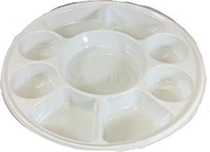 Nine Compartment Disposable Plastic Plate or Thali - 50 Plates