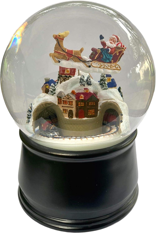 The San Francisco Music Box Company MM Snow Santa 120 Flying 年中無休 送料無料激安祭 Glo