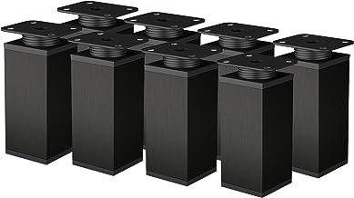 Meubelpoten metalen tafelpoten in hoogte verstelbaar verstelbare meubelvoet bank voet aluminium profiel 8 stuks 40x40mm (1...
