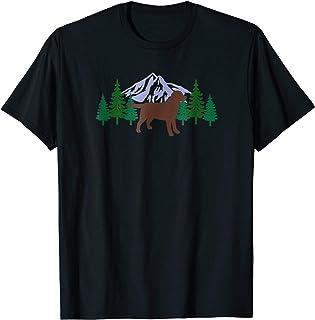 Chocolate Labrador Outline Silhouette Evergreen Tshirt