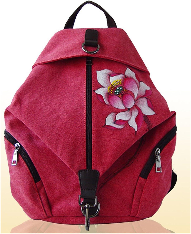 Keshi Canvas Fashion Backpack Bag, Fashion Cute Lightweight Backpacks for Teen Young Girls