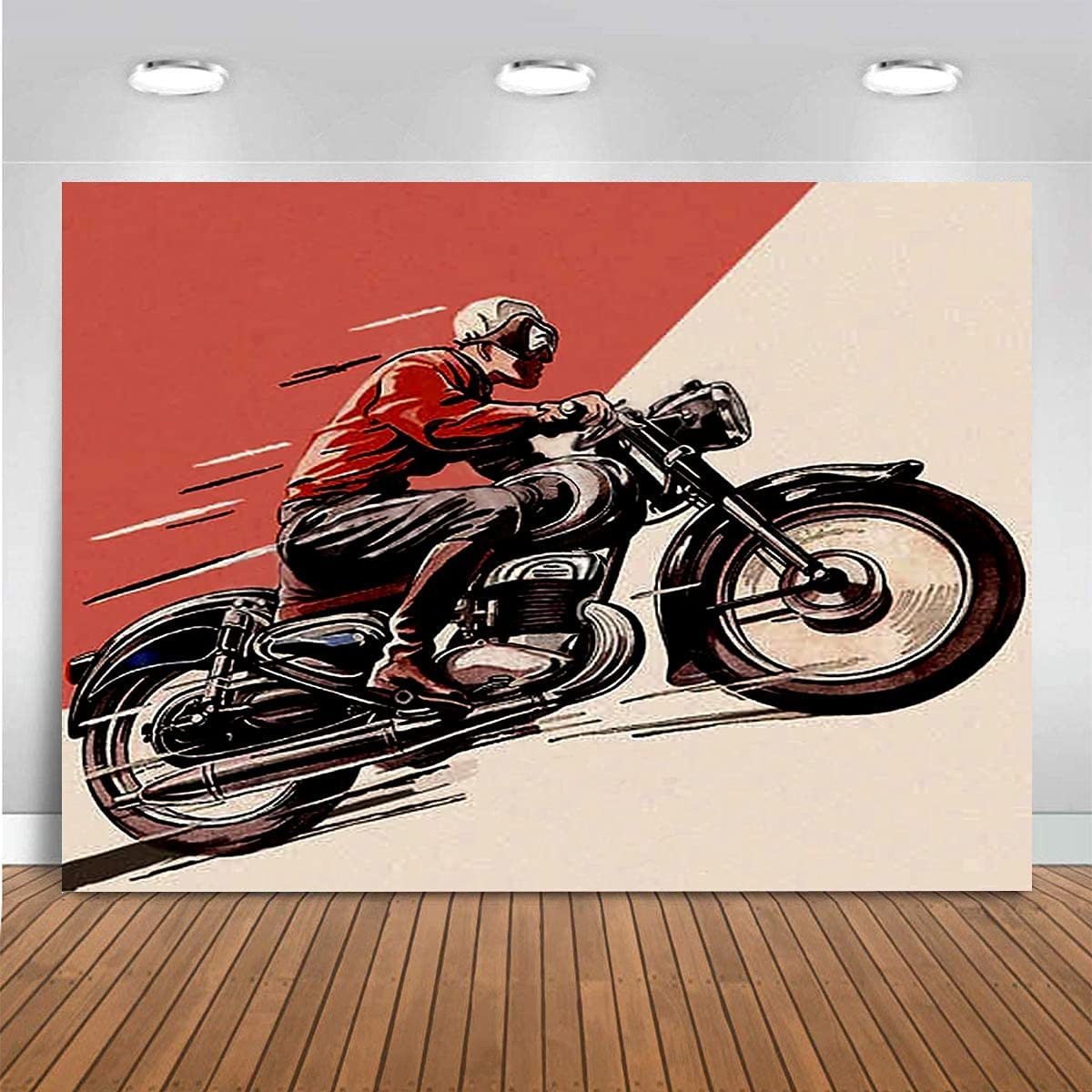 WENJIA Photography Portrait Vintage Background National uniform free shipping Motorcycle Theme Max 75% OFF