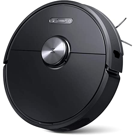 Roborock S6 Robot Vacuum, Robotic Vacuum Cleaner and Mop with Adaptive Routing, Multi-floor Mapping, Selective Room Cleaning, Super Strong Suction, and Extra Long Battery Life, Works with Alexa(black)
