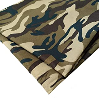 """ZAIONE Camouflage Military Army Printed Dacron Fabric by The Yard Width 58"""" Camo Prints Polyester Tabby Fabric Garment Mat..."""