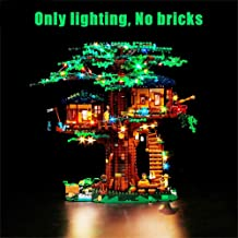 Vonado Led Lighting Kit for Lego 21318 Treehouse Ideas Series Lighting Group Building Blocks Bricks Toys Gift to Friends Adult Boys and Girls Festival Christmas(Only Lights)