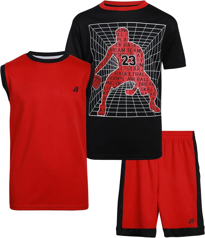 Pro Athlete Boys' Activewear Nippon regular agency Set - Sleeve Tank To T-Shirt Short Manufacturer OFFicial shop