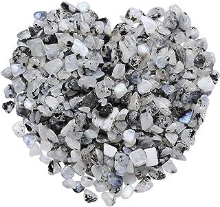 mookaitedecor 1 Pound Moonstone Tumbled Chip Stones Crushed Tumblestone Crystals Healing Home Decoration