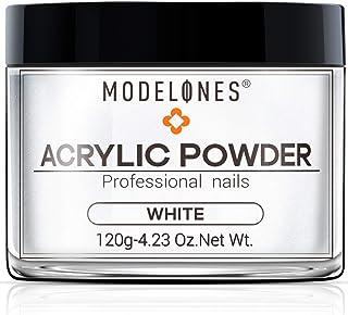 Modelones White Nail Acrylic Powder Professional Big Capacity Nail Art Powder for Nail Extension 4.23 oz