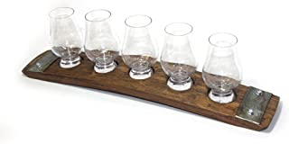 5 glass Premium flight/whiskey flight/scotch flight/Whiskey tasting set/Glencairn Glasses/scotch serving tray/serving tray