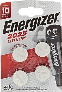 Energizer CR2025 batterijen, lithium knoopcel, 4 stuks (verpakking kan variëren)