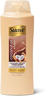 Suave Professionals Damage Repair Conditioner for Normal to Damaged Hair Coconut Oil Infusion Deep Conditioner with Pure Coconut Oil 28 oz