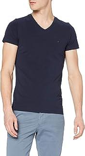 Tommy Hilfiger Herren Core Stretch Slim Vneck Tee T-Shirt